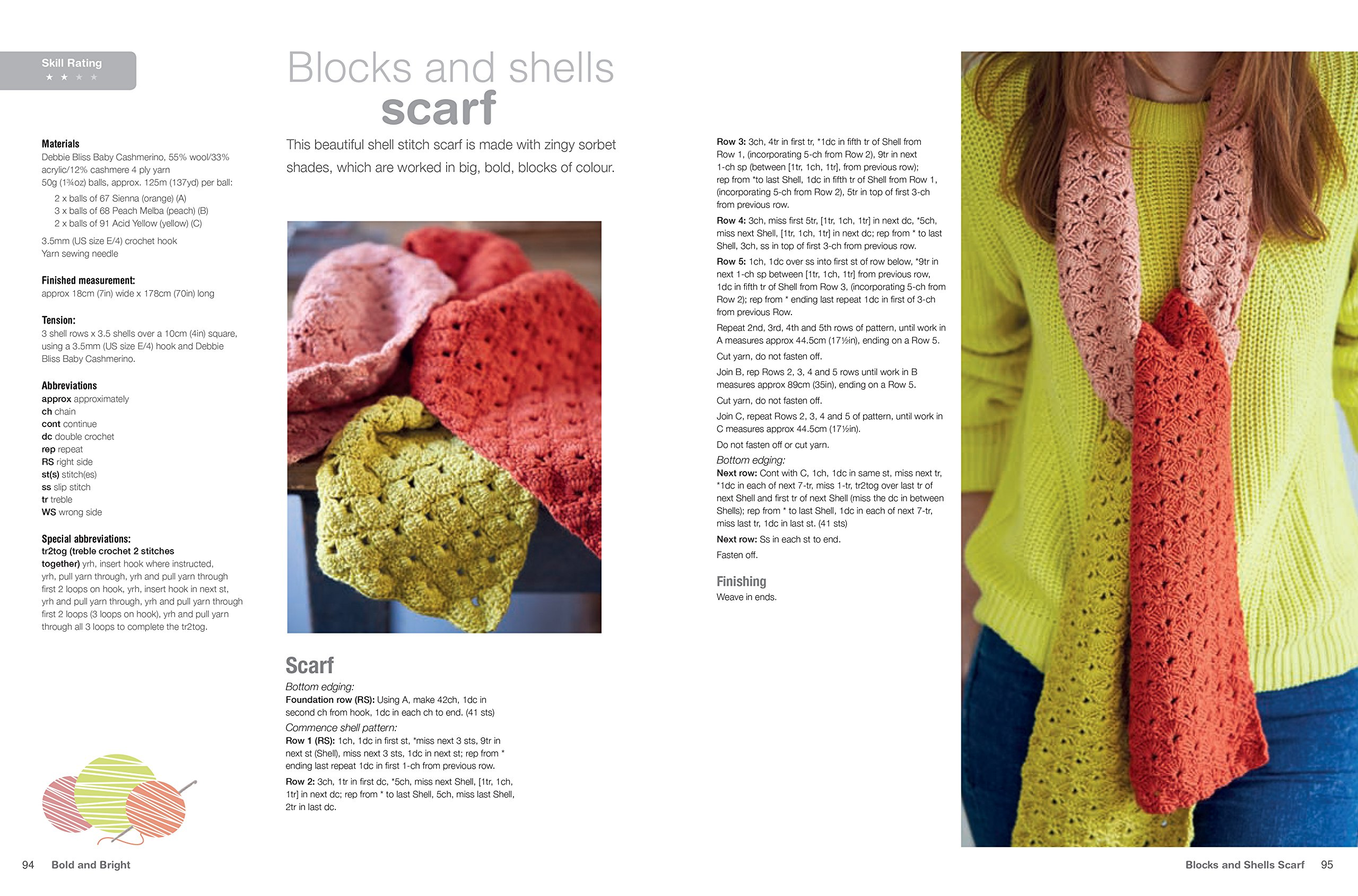 d264e6deb Crocheted Scarves and Cowls  35 colourful and contemporary crochet ...