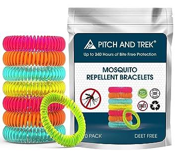 Pulsera Antimosquitos (x 10) - Pulseras Repelente de Mosquitos sin DEET para Bebés / Niños y Adultos - Protección Eficaz y Natural con Aceites ...
