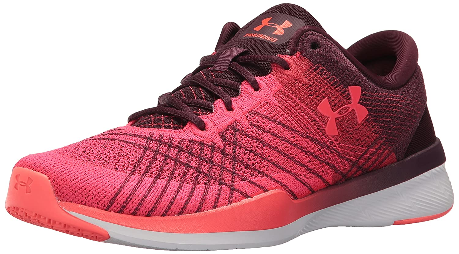 Under Armour Women's Threadborne Push Cross-Trainer Shoe B01MU0SKZF 10 M US|Raisin Red (500)/Red