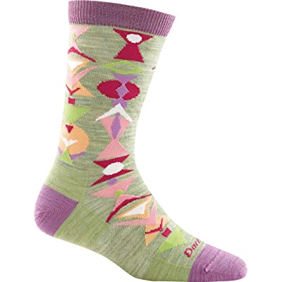 Darn Tough Cosmo Crew Light Sock - Women's Cactus Small: Clothing