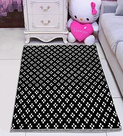 Saral Home Soft Cotton Multi Purpose Rugs- 75x100 cm, Black