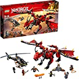 LEGO NINJAGO Masters of Spinjitzu: Firstbourne 70653 Ninja Toy Building Kit with Red Dragon Figure, Minifigures and a Helicopter