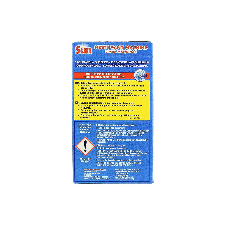 Superbe Produit Deboucher Lave Vaisselle #7: Sun Expert Nettoyant Pour Lave-Vaisselle Expert 3 Doses: Amazon.fr: Hygiène  Et Soins Du Corps