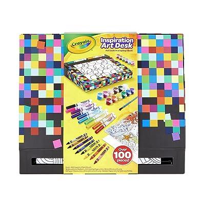 Crayola Inspiration Art Desk, Travel Art Set, Lap Desk for Kids, Ages 4, 5, 6, 7, 8: Toys & Games