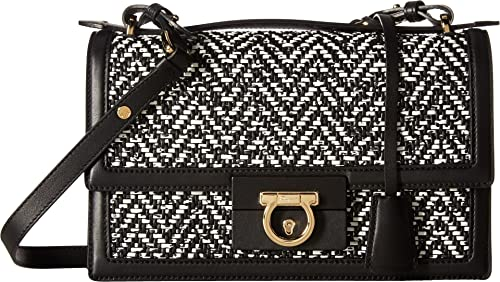c015861d976f Salvatore Ferragamo Women s Aileen 21G126 Nero Bianco Handbag ...