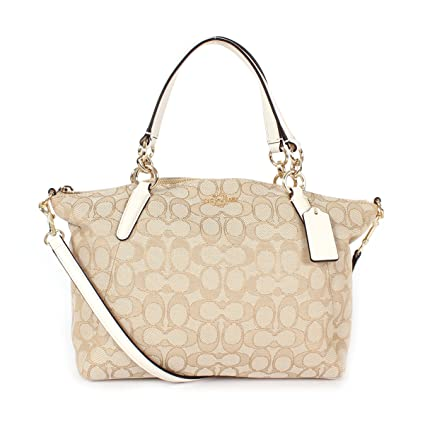 4a3843438044 Amazon.com  Coach Outline Signature Small Kelsey Shoulder Bag Khaki Chalk   Computers   Accessories