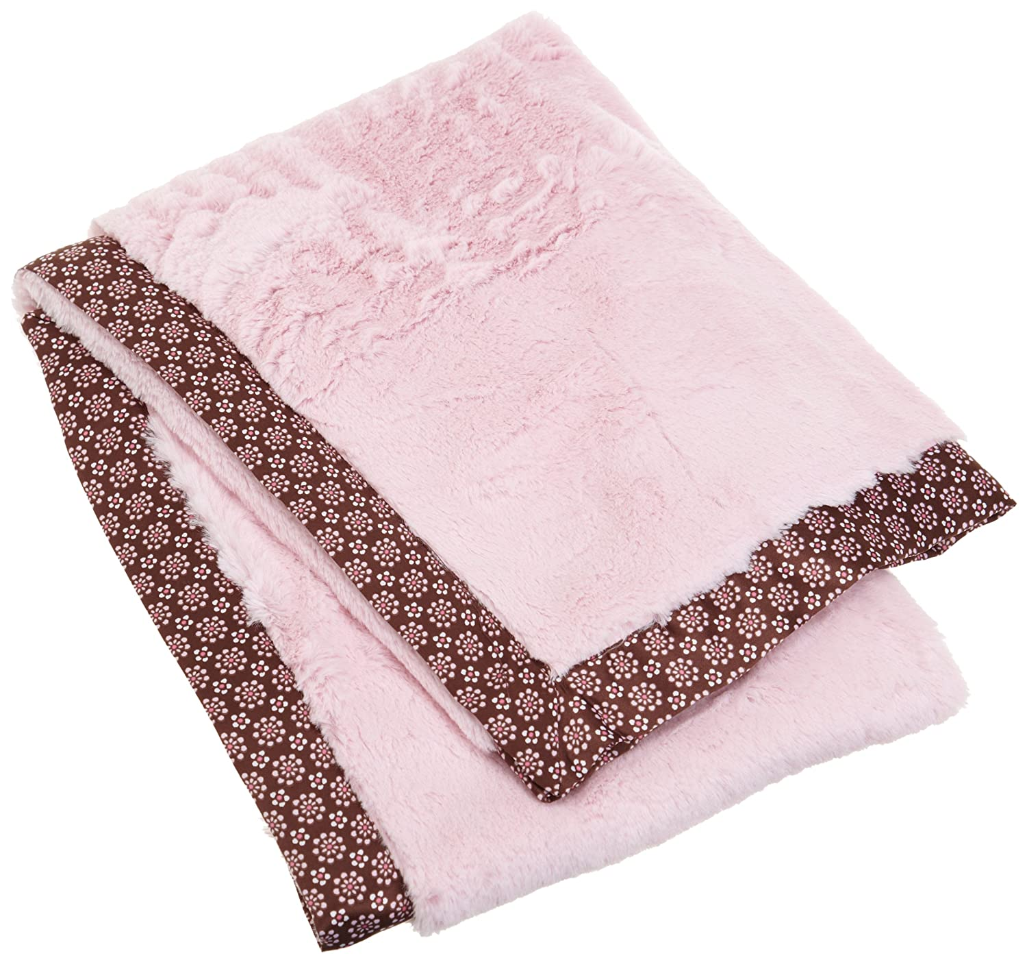 Carters everyday easy faux fur with satin blanket pink brown floral  discontinued manufacturer baby jpg 1500x1404 504722510