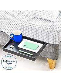 BedShelfie The Original Bedside Shelf - 9 Colors / 4 Sizes - AS SEEN ON Business Insider (Slide Style, Black)