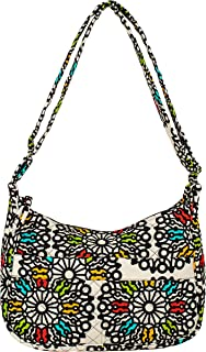 product image for Shoulder Bag by Stephanie Dawn, Quilted Cotton Fabric, Adjustable Strap, Washable, Made in USA