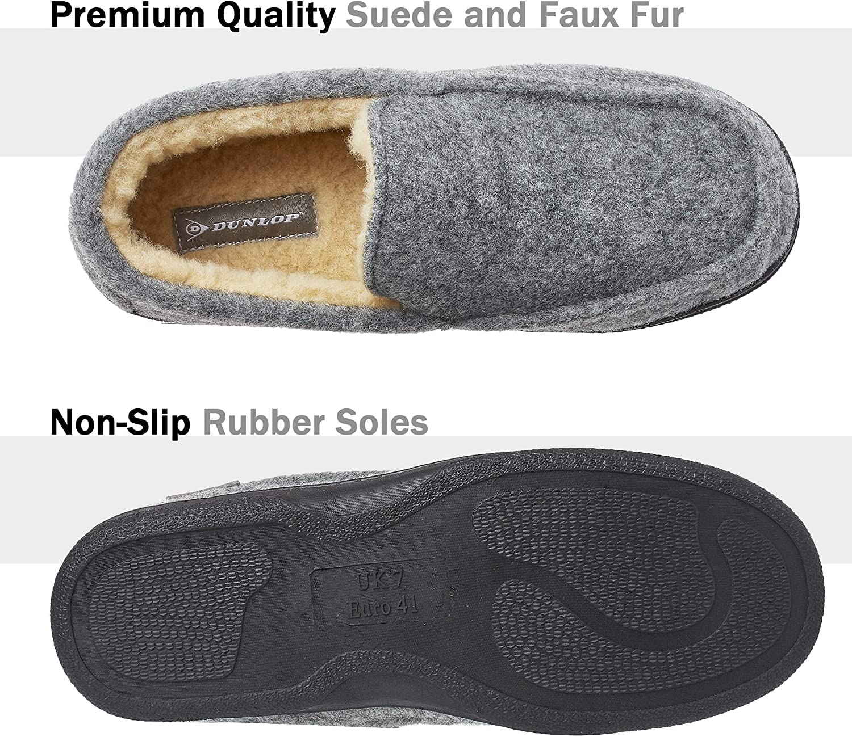 Pantuflas Estilo Mocasines Cerradas Zapatillas de Casa Invierno Calientes Suela de Goma Dura Dunlop Zapatillas Casa Hombre Regalos Originales para Hombre