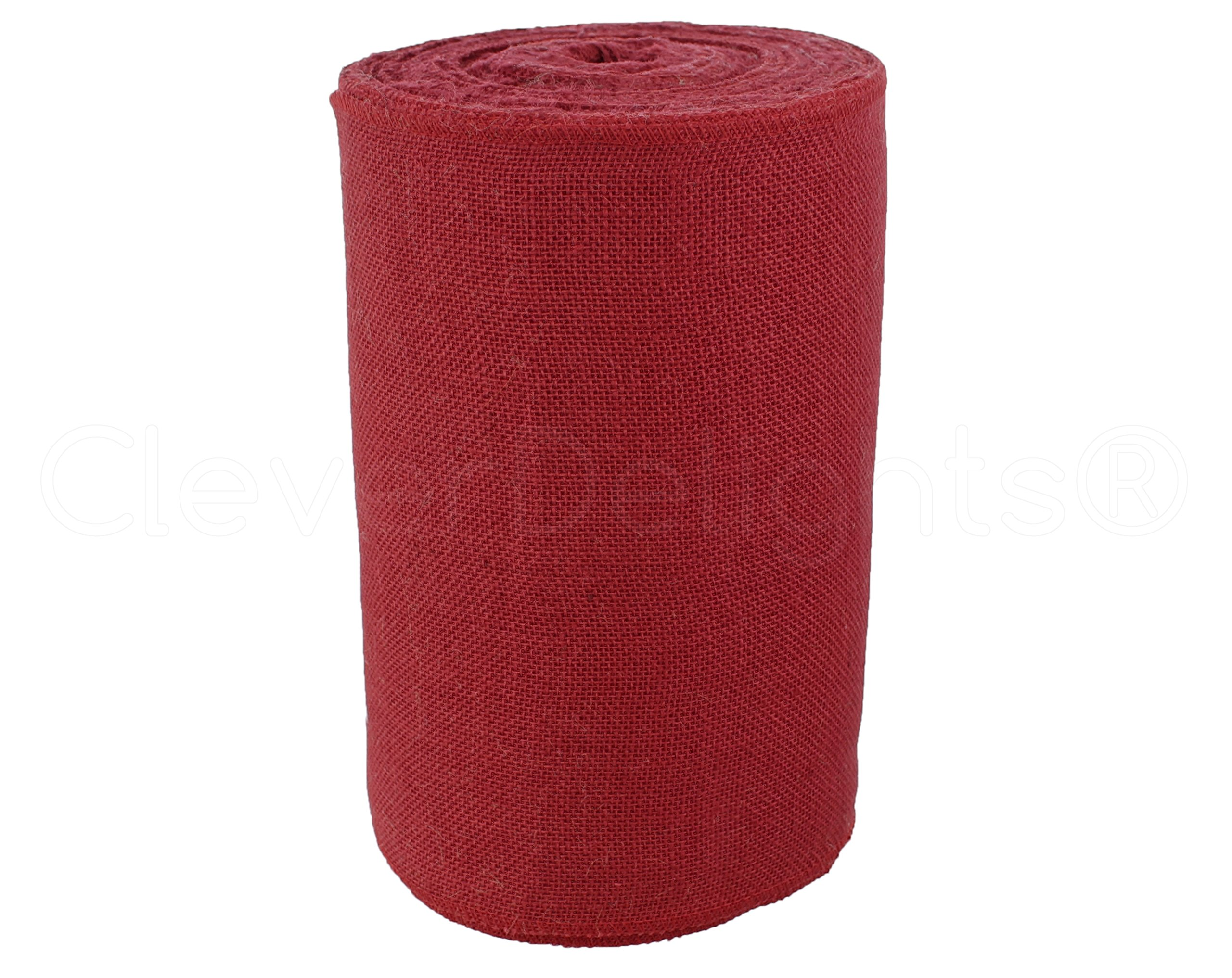 CleverDelights 12'' Premium Red Burlap Roll - 50 Yards - No-Fray Finished Edges - Natural Jute Burlap Fabric by CleverDelights (Image #2)