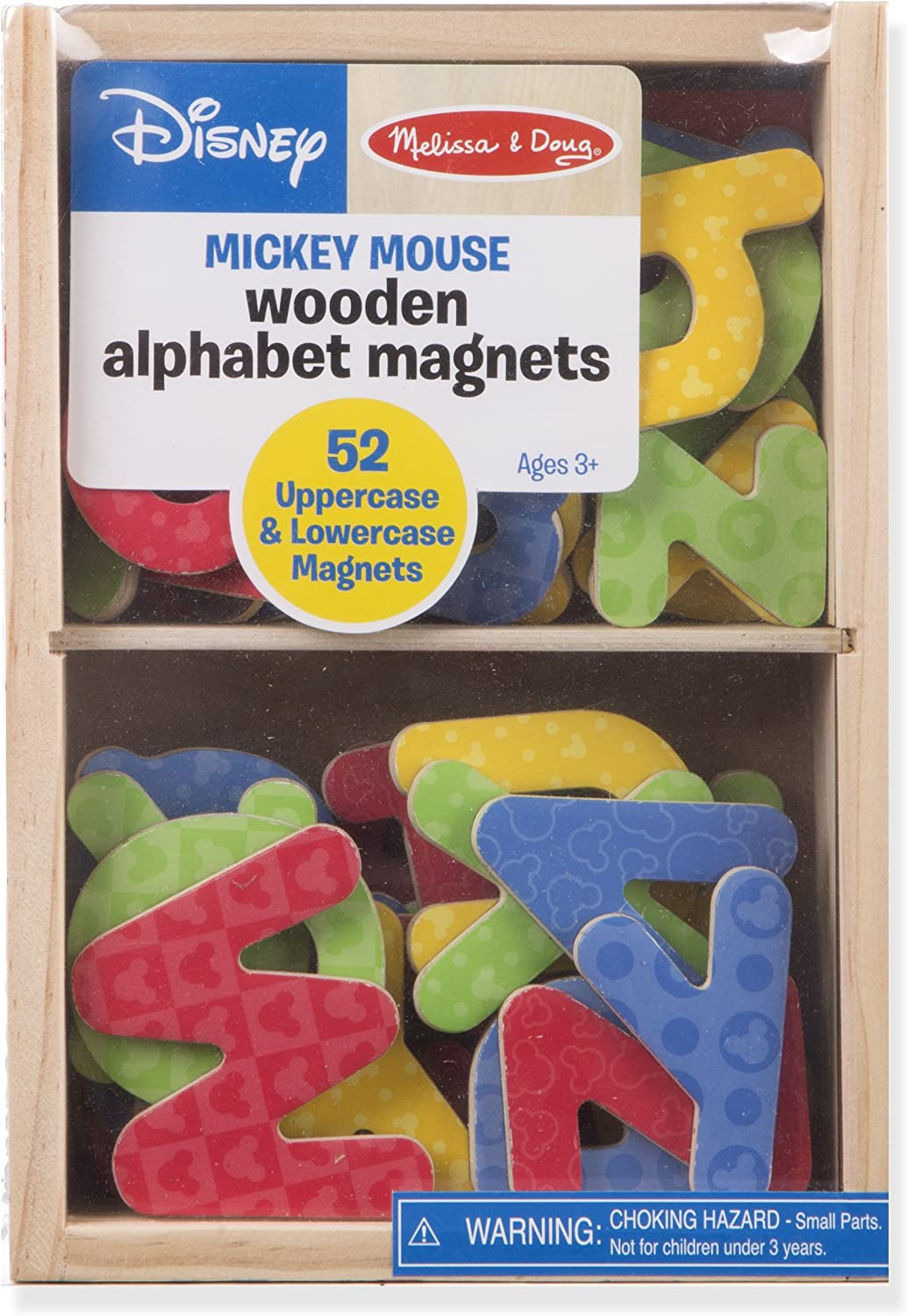 Melissa & Doug Mickey & Friends Wooden Alphabet Magnets: Melissa & Doug: Toys & Games
