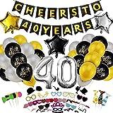 Amazon.com: Decoración para 40 cumpleaños, Yoart 40 globos ...