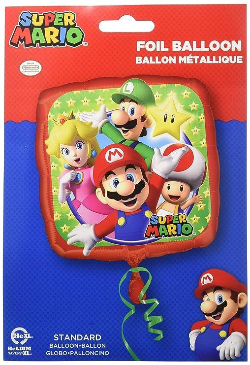 Super Mario Standard Foil Balloons S60 -: Amazon.es: Hogar