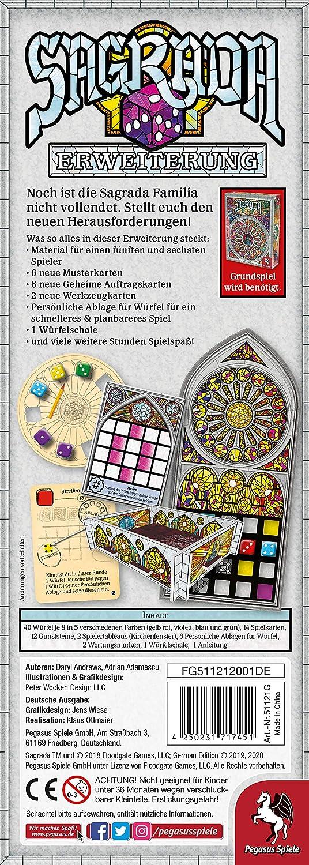 Pegasus Spiele 51121G Sagrada - Juego de Mesa [Importado de Alemania]: Amazon.es: Juguetes y juegos