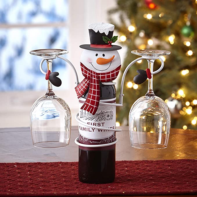 Snowman The Lakeside Collection Wine Bottle and Glass Holder