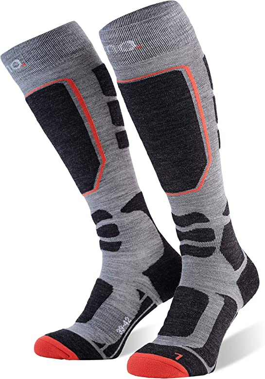 Eono Essentials Ski Socks (Basic o Premium), Grau (Premium), UE 39-42, UK 6-8: Amazon.es: Deportes y aire libre