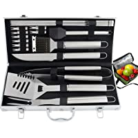 2-Pk. ROMANTICIST 20pc Heavy Duty BBQ Grill Tool Set with Cooler Bag