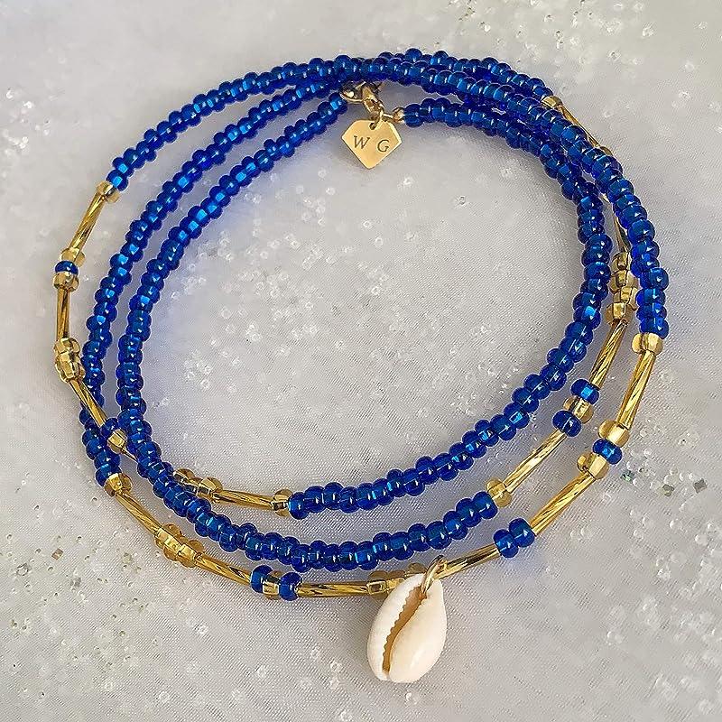 Waist Beads Gold Rutile Quartz Goddess of the Sun by Bless Your Belly Waist Beads