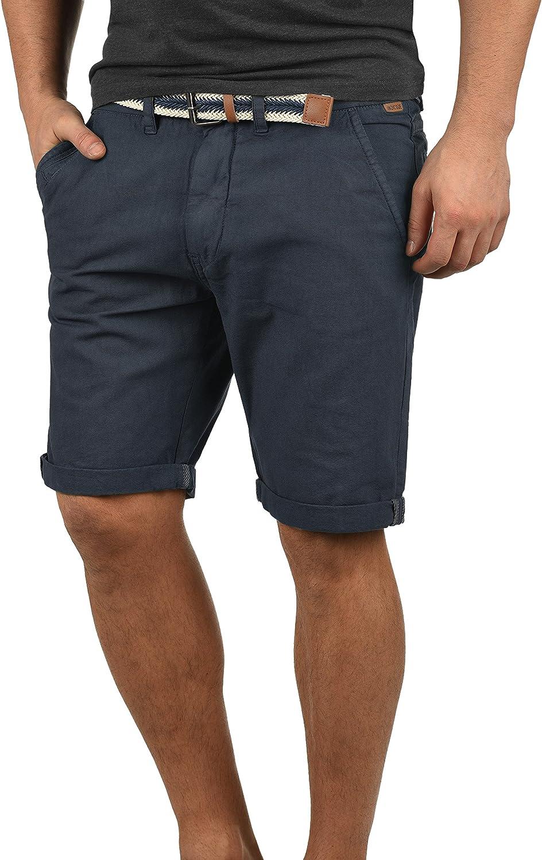 Indicode Mews Pantaloncini Chino Shorts Panno Corti da Uomo con Cintura in Cotone 100/% Regular Fit