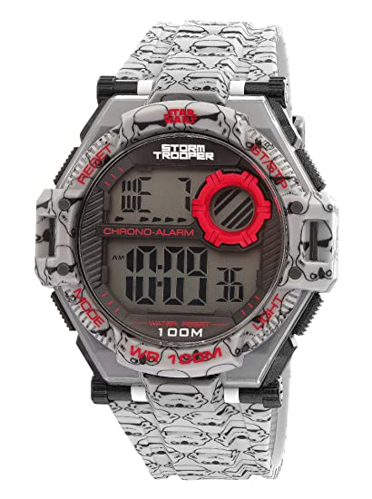 AM: PM Star Wars Storm Trooper de la Hombres Digital deportes reloj cronómetro alarma sp174-g481: AM:PM: Amazon.es: Relojes