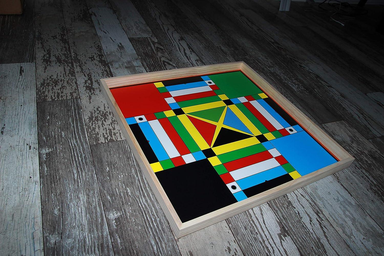 Jamaican Ludo オリジナルエディション 2フィート x 2フィート 片面マルチプレーヤーボードゲーム ゲームピース サイコロ ファミリーゲームナイト B07HMKZWCT
