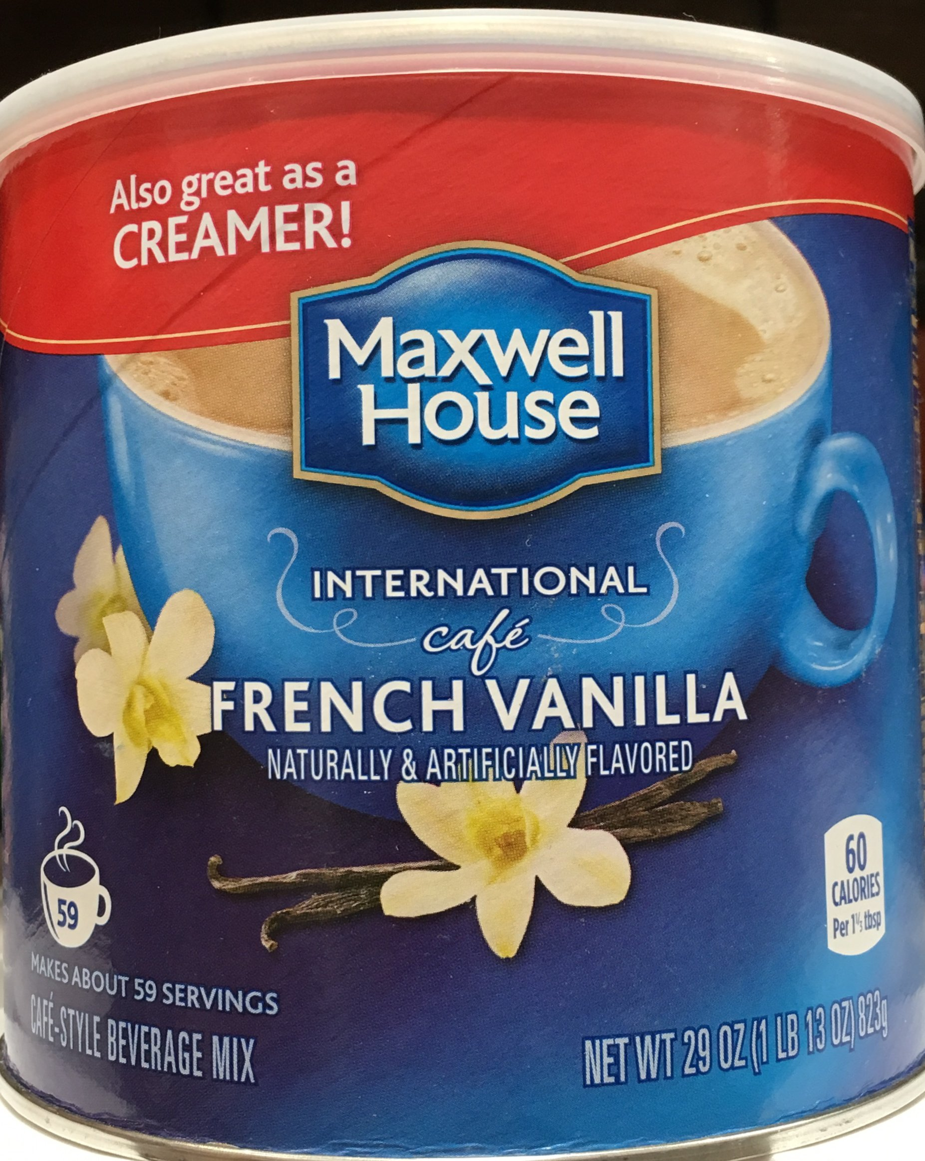 Maxwell House International Cafe French Vanilla 29oz (Pack of 4) by MAXWELL HOUSE