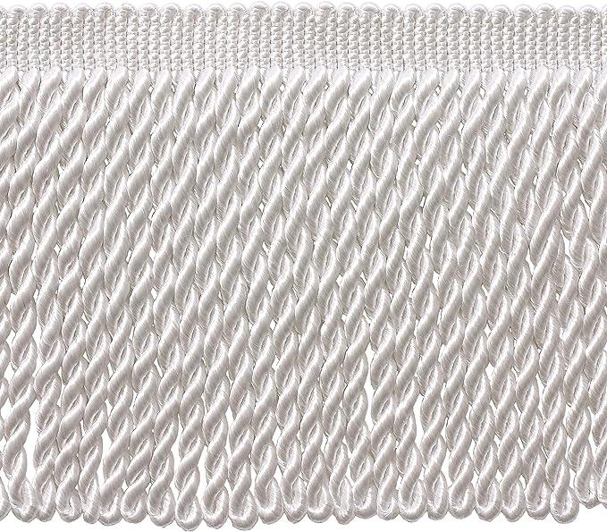 DecoPro 5 Yard Value Pack 6 Inch Long Ivory//Ecru Bullion Fringe Trim 15 Ft // 4.5 Meters Style# BFS6 Color: A2