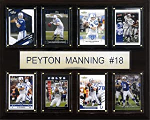 NFL Peyton Manning Indianapolis Colts 8 Card Plaque