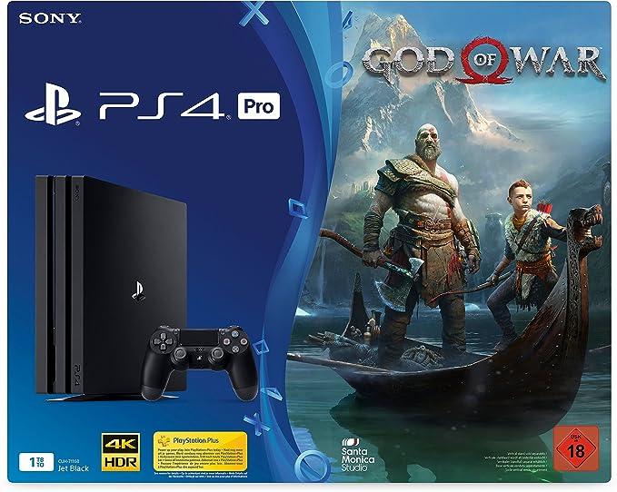 PlayStation 4 1TB PRO Black + God of War [Importación alemana ...