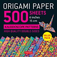 Origami Paper 500 Sheets Kaleidoscope Patterns 6 Inch (15 Cm)