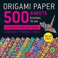 "Origami paper : 500 sheets kaleidoscope patterns 6"" (15 cm)"