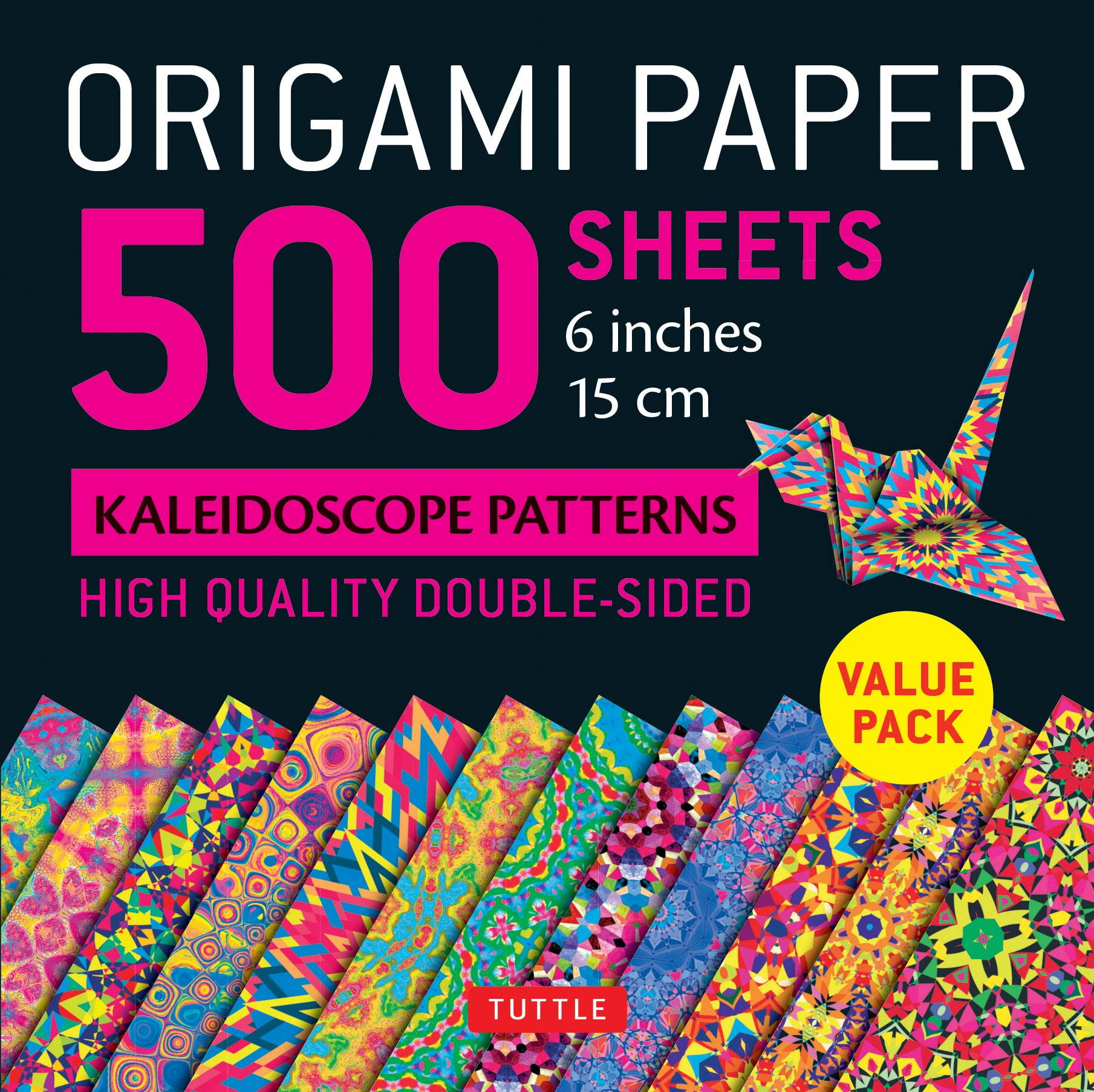 """Origami Paper 500 sheets Kaleidoscope Patterns 6"""" (15 cm): Tuttle Origami Paper: High-Quality Origami Sheets Printed with 12 Different Designs: Instructions for 8 Projects Included ebook"""