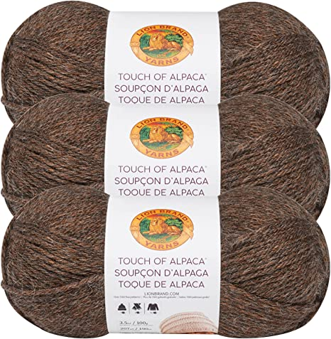 3 Pack Lion Brand Touch Of Alpaca Yarn-Goldenrod