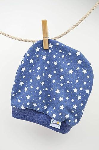 c08bb92681 Beanie aus Bio-Baumwolle, Mütze für Frühchen 44 48 und kleine Babys,  Erstlingsmütze