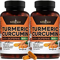 (2-Pack) Turmeric Curcumin with Bioperine 1650mg by New Age. Premium Joint & Healthy...