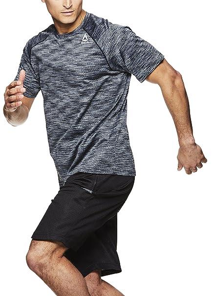d81f25e19 Reebok Men's Supersonic Crewneck Workout T-Shirt Designed with Performance  Material - Black Push Press
