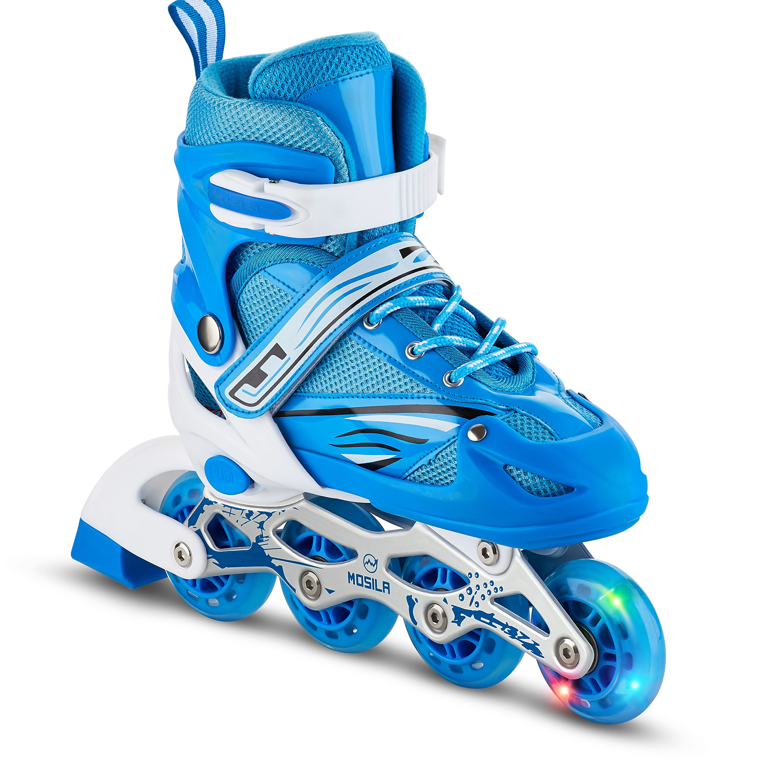 Kids Inline Skates-Top Performance Inline Skate for Girls and Boys-Easily Adjustable ,Fits US Kids Size 3-5,Expands As Your Child Grows-Light Up Front Wheel and Low Friction Wheels-by MOSILA