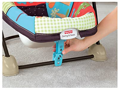 Fisher price spacesaver swing and seat review for Space saving seating