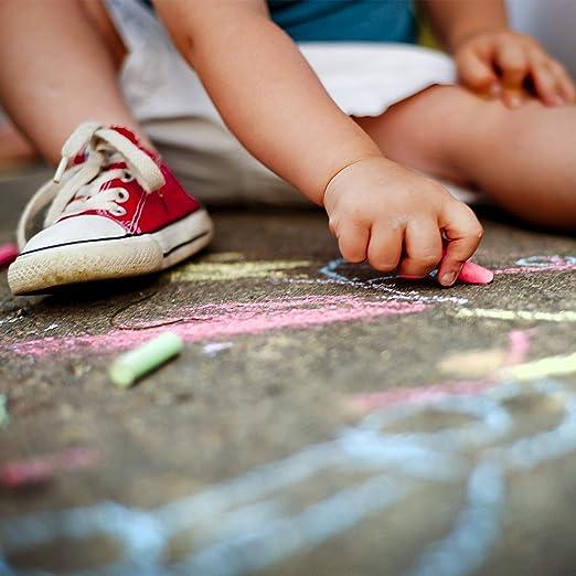 120er Set Kreide Malkreide Tafelkreide Straßenmalkreide für Kinder bunt