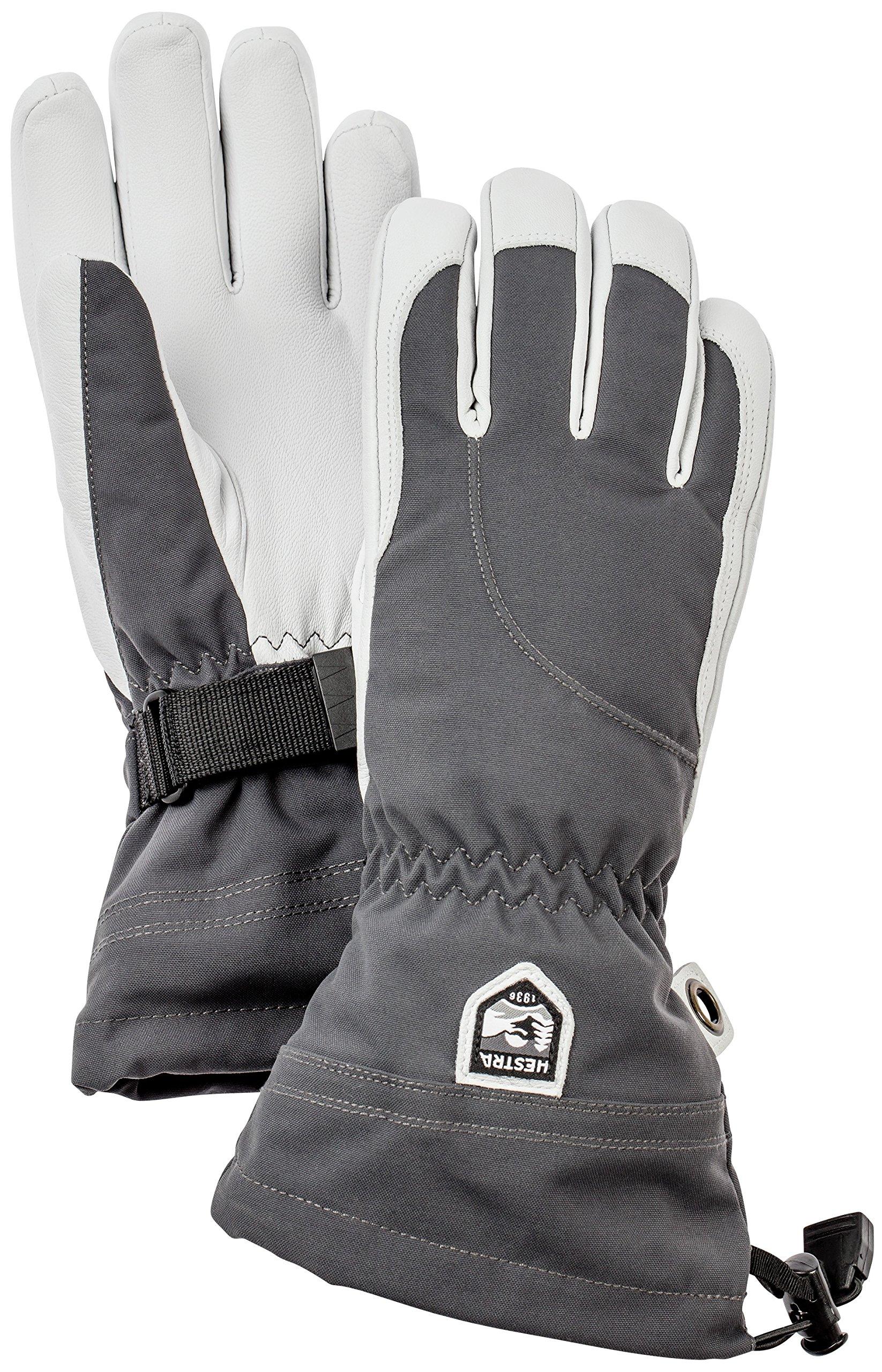 Hestra Women's Heli Gloves, Grey, Size 7