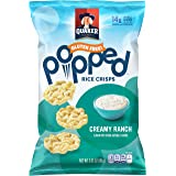 Quaker Popped Rice Crips, Gluten Free, Ranch, Small Bag, 3.03 Ounce