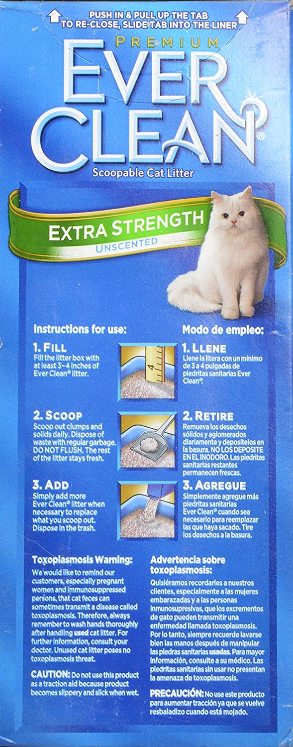 Amazon.com : Ever Clean Extra Strong Unscented Cat Litter, 14-Pound : Pet Litter : Pet Supplies