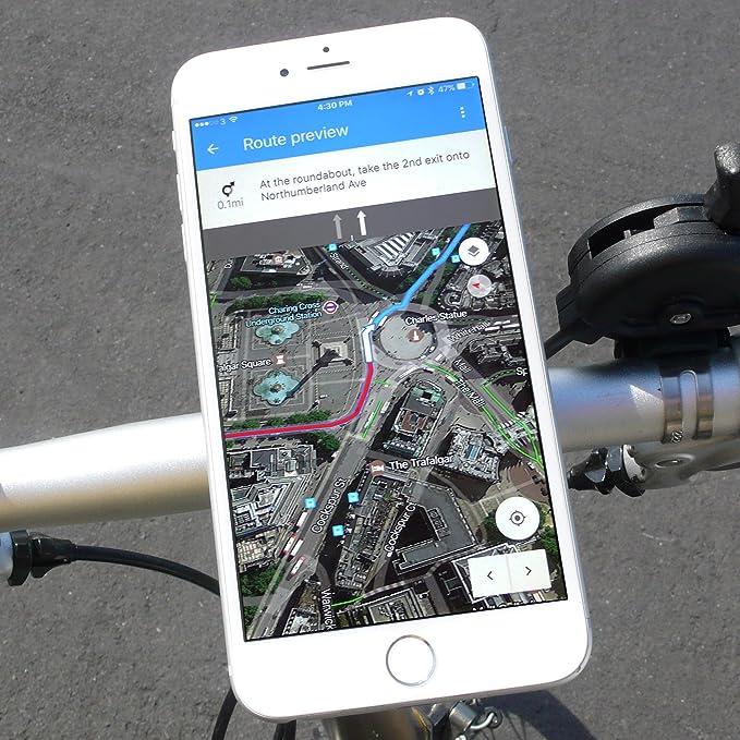bikephone - magnético Soporte para teléfono móvil de bicicletas &. Co GPS y Strava pantalla plana: Amazon.es: Deportes y aire libre