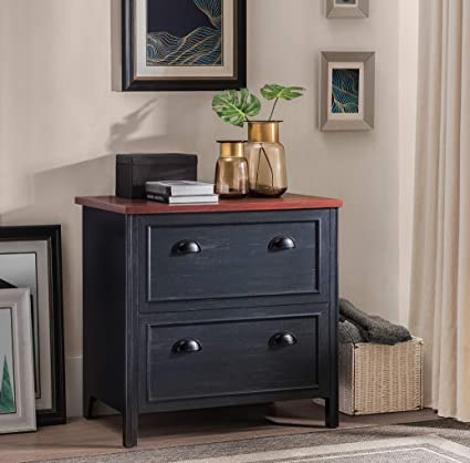 Remarkable 2L Lifestyle Byron 2 Drawer File Cabinet Small Black And Cherry Download Free Architecture Designs Grimeyleaguecom