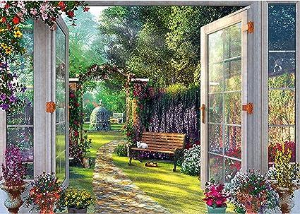 Schmidt Spiele- Dominic Davison - Puzzle (1000 Piezas), diseño de Vista en el jardín (59592): Amazon.es: Juguetes y juegos