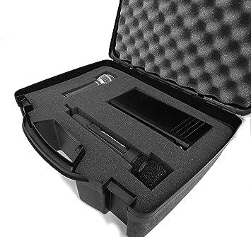 STUDIOCASE Wireless Microphone System Hard Case w// Customizable Foam Fits Pyle
