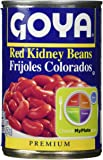 Goya Red Kidney Beans Habichuelas Coloradas Premium- 15.5 Oz Cans (6 Pack)