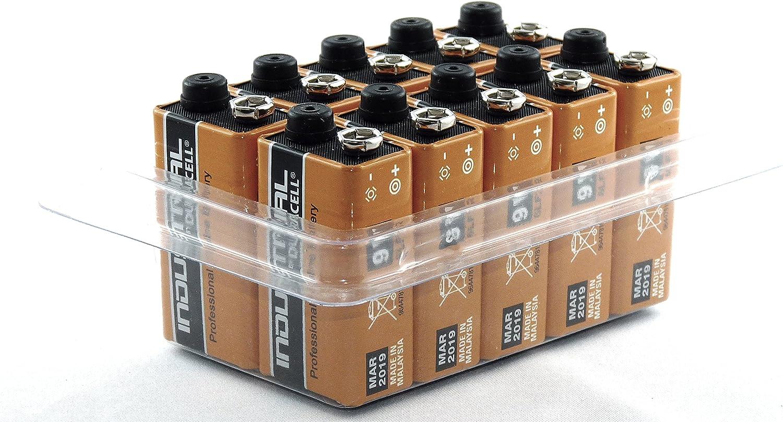 Duracell Industrial 9 V E-Block//MN1604//6LR61 in Scatola da 10 Pezzi