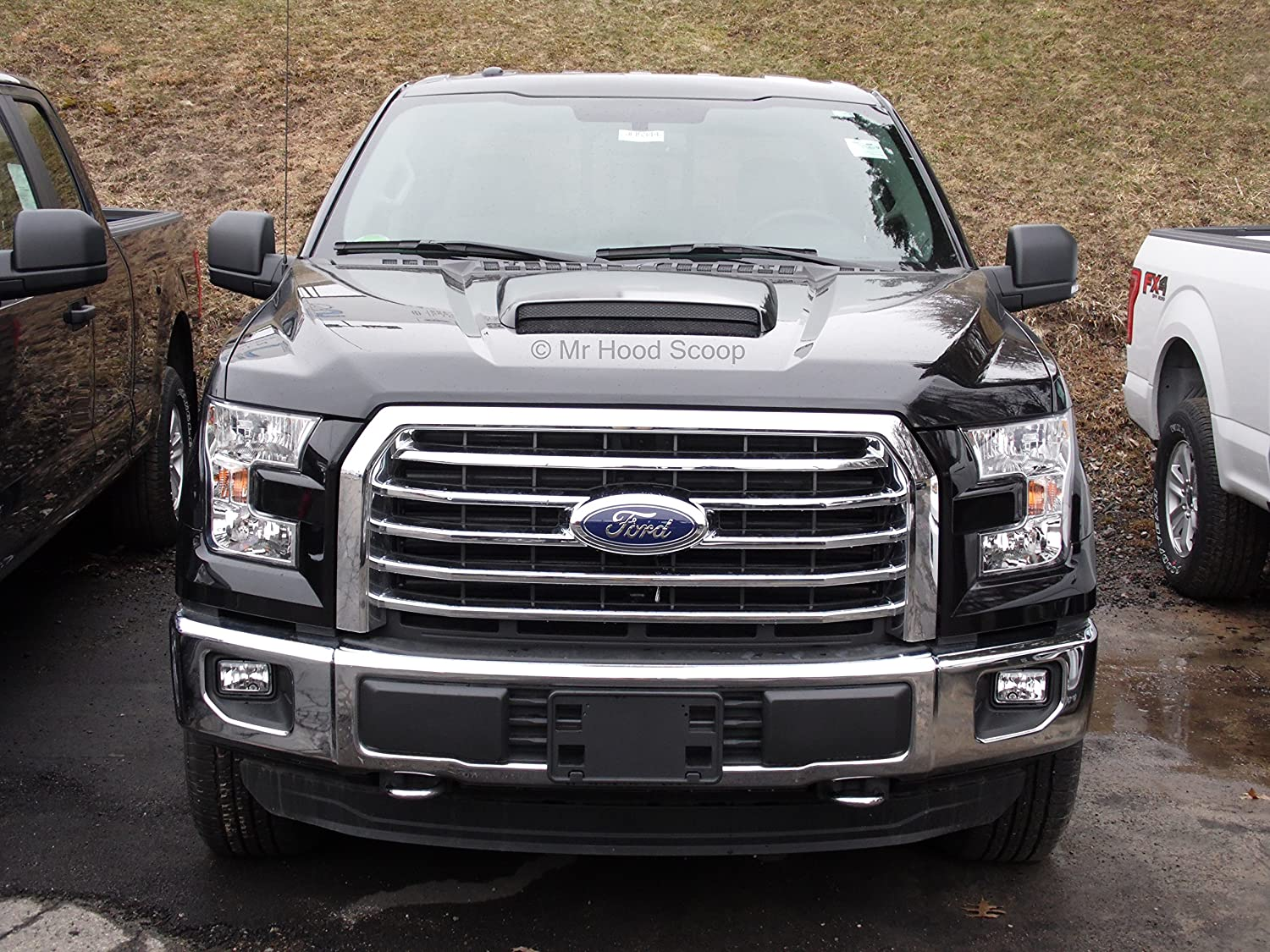 Xtreme Autosport Unpainted Hood Scoop Compatible with 2004-2008 Ford F150 by MrHoodScoop HS002